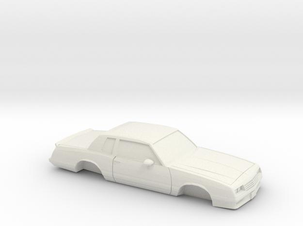 1/32 1987Chevrolet Monte Carlo SS in White Natural Versatile Plastic