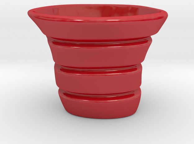 Espresso coffee cup free form in Gloss Red Porcelain