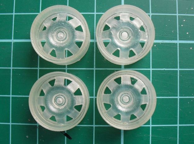 "1/24 Rim Set 17"" Ats Cup Style in Smoothest Fine Detail Plastic"