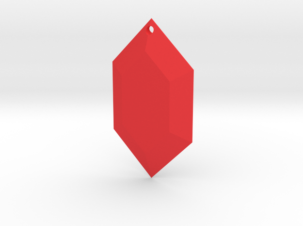 Zelda Rupee Ornament in Red Strong & Flexible Polished