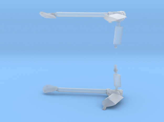 747 SCA Main (Rear) Mounts - Parts Combined in Smoothest Fine Detail Plastic