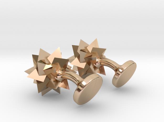 Tetrahedra Cufflinks