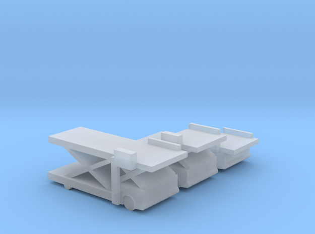 Airport Cargo Lifts in Smoothest Fine Detail Plastic