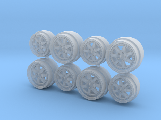 NSX Spec Mugen M7 Hot Wheels Rims in Smoothest Fine Detail Plastic