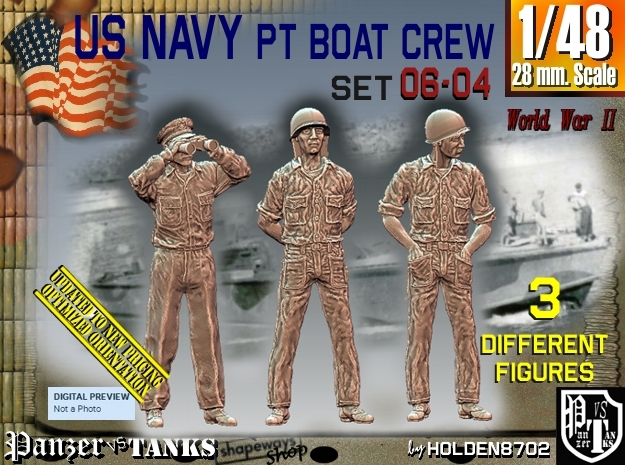 1/48 USN PT Crew Set06-04 in Frosted Ultra Detail