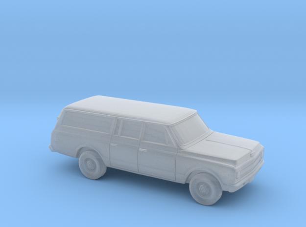 1/220 1967-70 Chevrolet Suburban Split Rear Door in Smooth Fine Detail Plastic