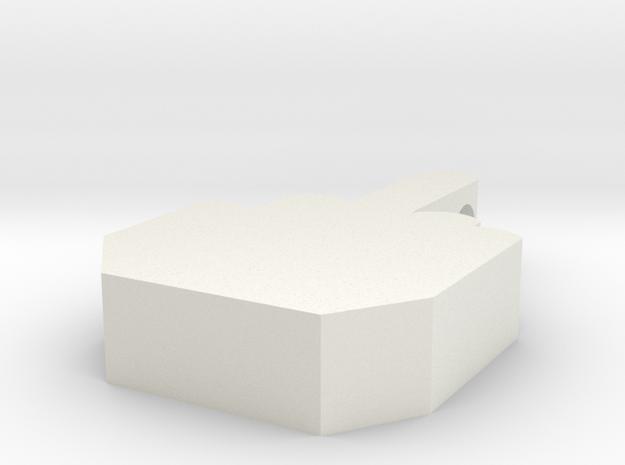 Middle Finger Pendant in White Natural Versatile Plastic