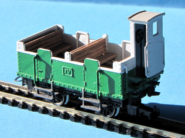 HOe-wagon06 - Crate of passenger wagon N°3 in Smooth Fine Detail Plastic
