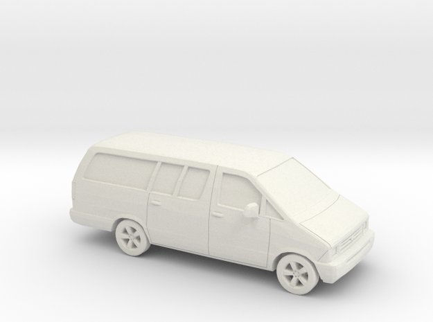 1/87 1986-95 Ford Aerostar Extended in White Natural Versatile Plastic