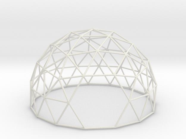 3vDome5/8 in White Natural Versatile Plastic