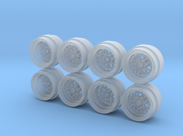 BBS E01-16 7.3mm Hot Wheels Rims in Smoothest Fine Detail Plastic