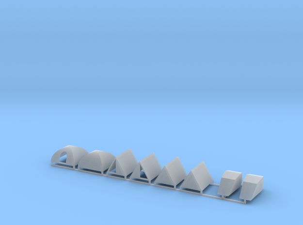 Zelte 8er Set - 1:87 H0 in Smooth Fine Detail Plastic