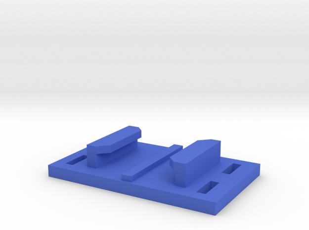 Gopro Mount Ziptie in Blue Processed Versatile Plastic