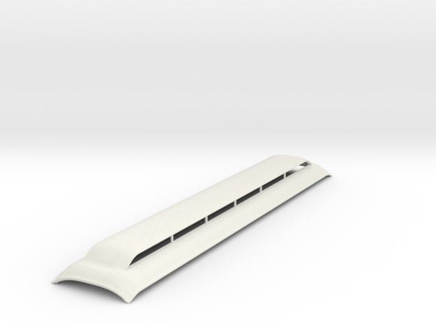 Broken Bullnose roof Sn3 scale version 1 in White Natural Versatile Plastic
