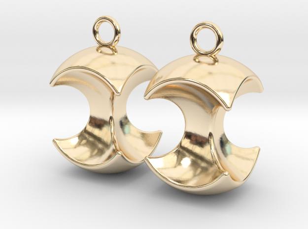 Apple earrings in 14k Gold Plated Brass