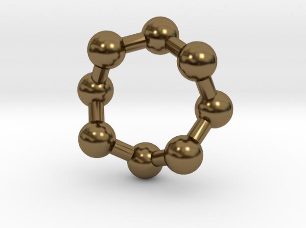 Sulphur Pendant in Polished Bronze