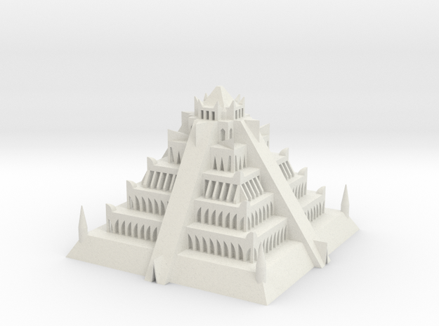 Atlantian Pyramid in White Natural Versatile Plastic: Extra Small