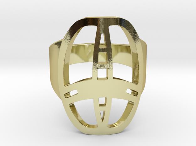 Garrett Ring Nr1 in 18k Gold Plated Brass: 10.25 / 62.125
