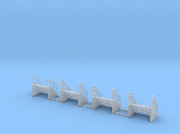 Engine shop stairs z scale in Smooth Fine Detail Plastic