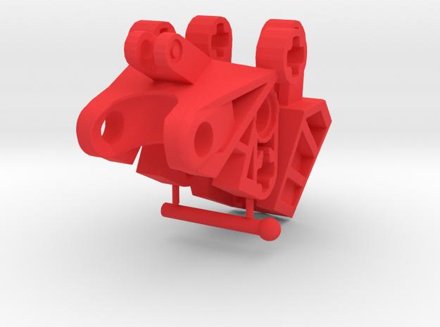 Articulated Mata Foot kit in Red Processed Versatile Plastic
