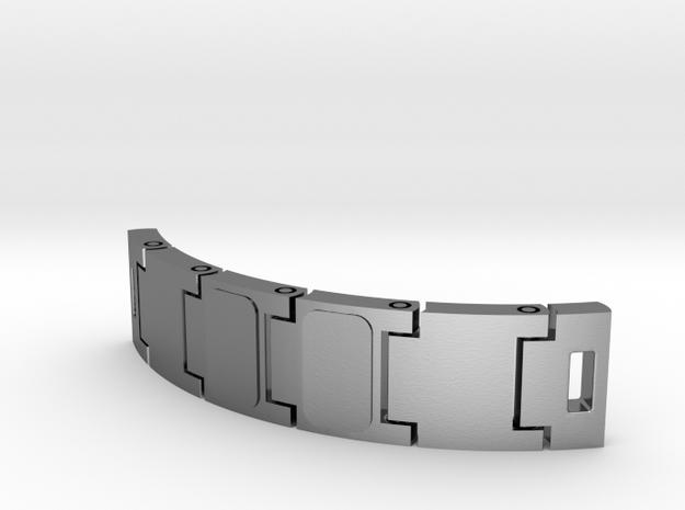 Customizable bracelet - bracelet à personnaliser in Interlocking Polished Silver
