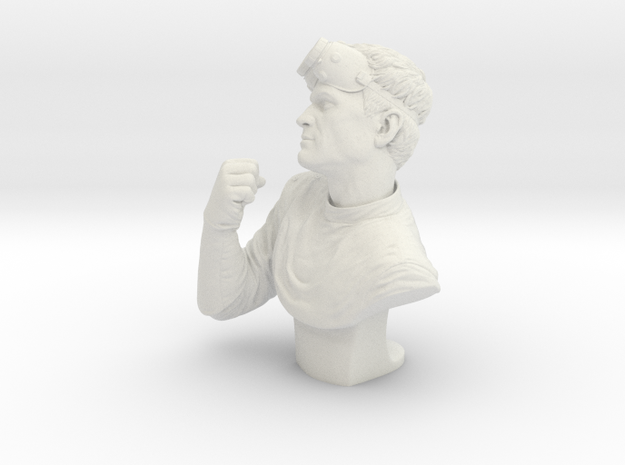 """Dr. Horrible 7.5"""" Bust in White Strong & Flexible"""