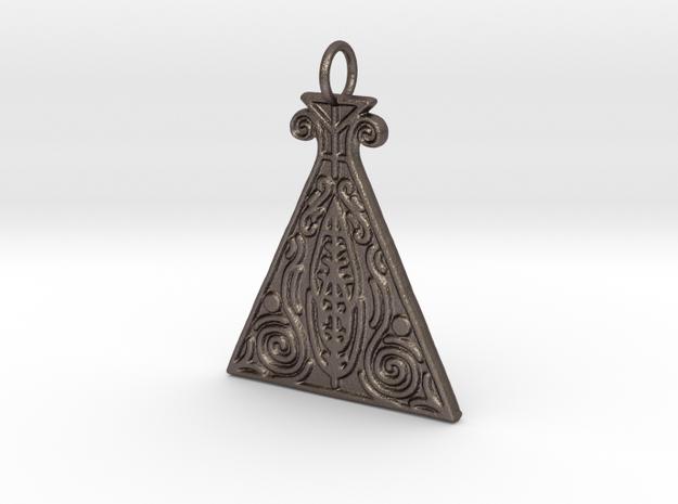 Alchemy Veve Pendant in Polished Bronzed Silver Steel
