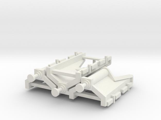 Modern buffer stop x3 in White Natural Versatile Plastic