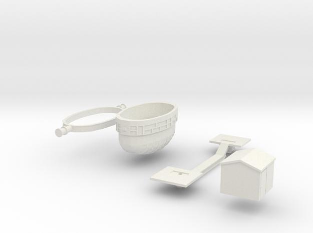 Slugpot_car Flexi_parts in White Natural Versatile Plastic