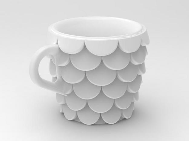 one cup a day | Day 15: Fish Scales Cup 3d printed view