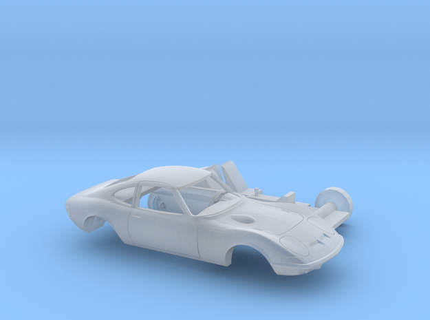 1/120 1968-73 Opel GT Two Piece Kit in Smooth Fine Detail Plastic