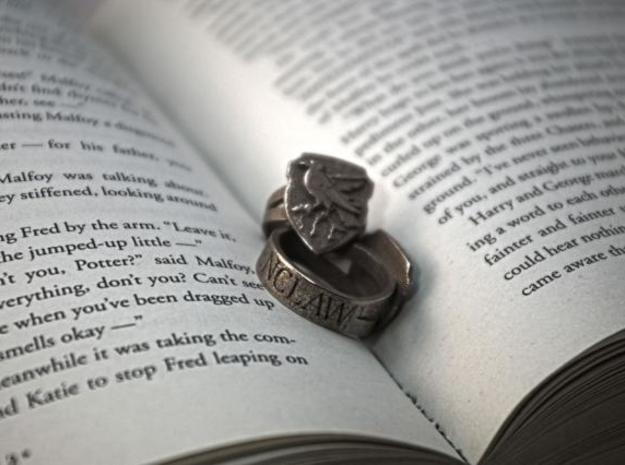Ravenclaw Ring Size 5 in Polished Bronzed Silver Steel