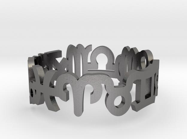 Zodiac Ring  in Polished Nickel Steel: 11.5 / 65.25