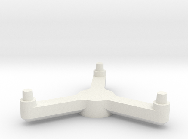 3125 Scale Tholian POL Pinwheel Stand Topper SRZ in White Natural Versatile Plastic
