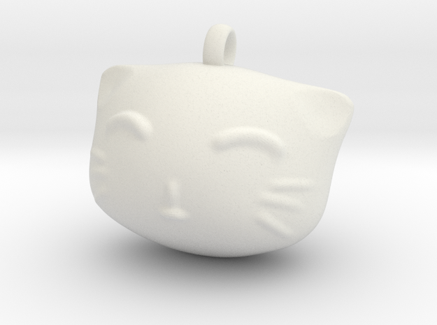 Cat4 in White Natural Versatile Plastic: Small