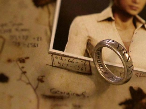 Sir Francis Drake Ring - Uncharted 3 Version in Polished Nickel Steel
