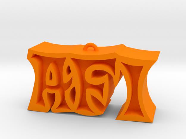 AFI (Art of Drowning) in Orange Processed Versatile Plastic