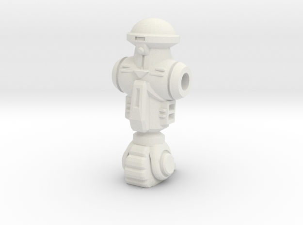 Roadkill Rodney Figurine in White Natural Versatile Plastic: Large