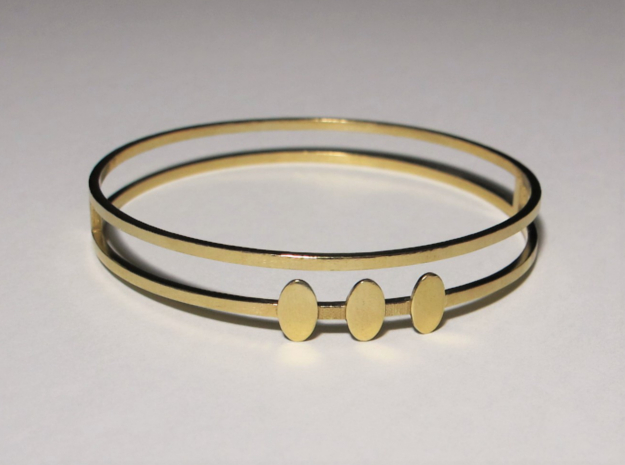 Egyptian Woman Bracelet - SMK in 14K Yellow Gold: Small