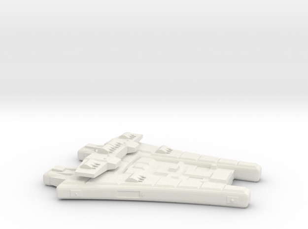3788 Scale Maesron Bombardment Cruiser MGL in White Natural Versatile Plastic
