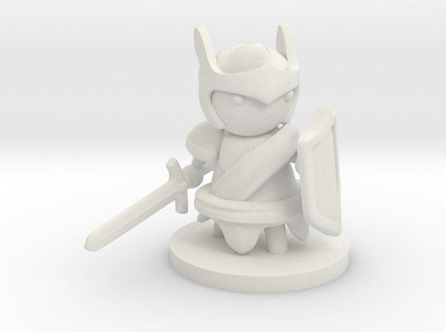 Paladin in White Natural Versatile Plastic
