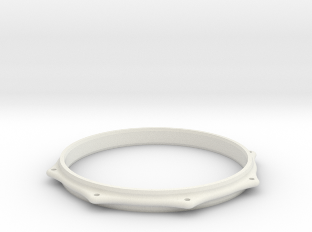BASS TOM HOOP in White Natural Versatile Plastic