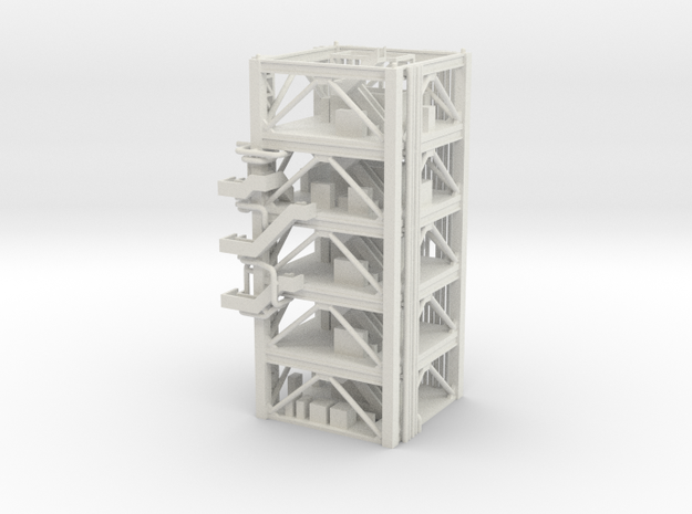 1/400 NASA LUT levels 3-7 (Launch Umbilical Tower) in White Natural Versatile Plastic