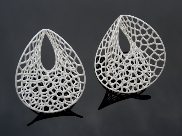 Enneper Voronoi Dream (3 sizes) in White Strong & Flexible Polished: Large