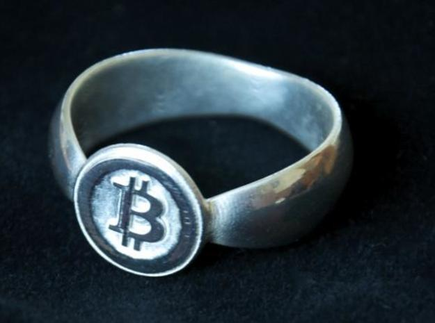 Bitcoin Ring 2nd Edition in Premium Silver