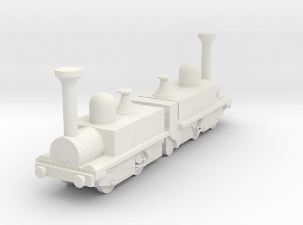 Mountain Locomotive MR. G. BELL 1I100 in White Natural Versatile Plastic