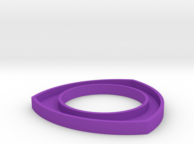 171124 Pup Triangle Bangle Large in Purple Processed Versatile Plastic