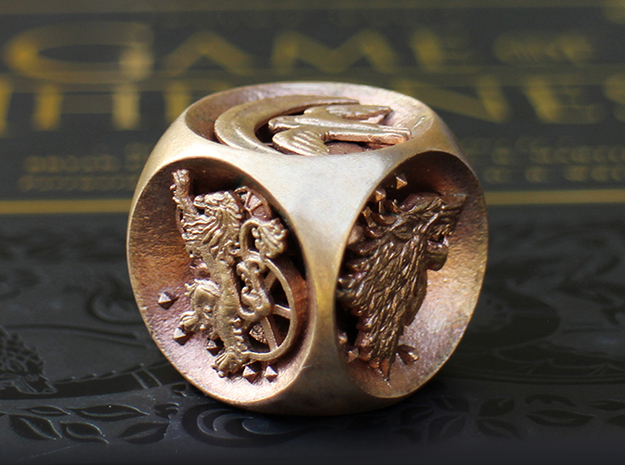 Dice of Thrones (Raw Bronze) in Natural Bronze