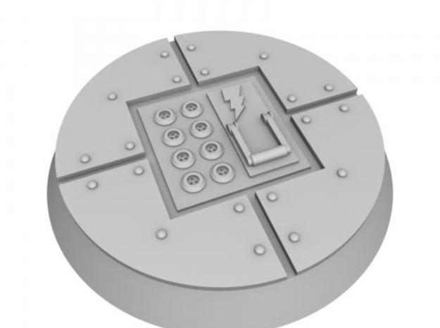 25mm Indoor Industrial wargaming bases 3d printed HD render of base 6