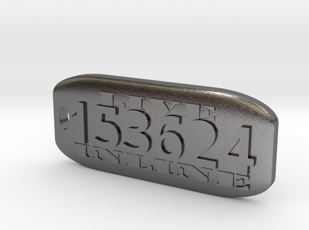 Inline 6 Key Fob in Polished Nickel Steel